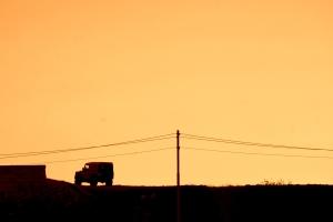 Landie at Sunset